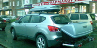 Nissan Qashqai с боксом Thule Spirit+949+BackUp