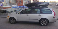 Volvo v50 с боксом Thule Excellence