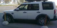 Land Rover Discovery 4 с боксом Thule Excellence