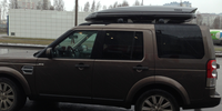 Land Rover Discovery 4 c боксом thule Dynamic 900