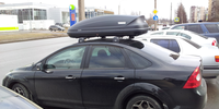 Ford Focus 2 sedan с боксом Thule Pacific 200